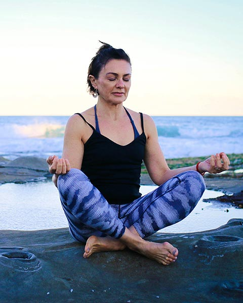 Seated Meditation At Local Newcastle Beach